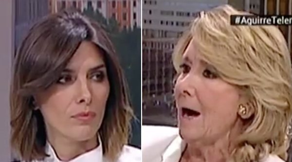 """Esperanza Aguirre pide la hora para irse y llama """"antiPP"""" a Telemadrid en su regreso a la cadena"""