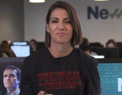 Ana Pastor luce una ingeniosa camiseta inspirada en 'Stranger Things' en una conexión con 'Al rojo vivo'
