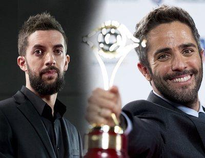 """Roberto Leal, intimidado por David Broncano tras """"arrebatarle"""" el Premio Iris"""