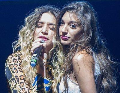 """El reencuentro WARMI de Mimi y Ana Guerra en el concierto de Madrid para cantar """"Havana"""""""