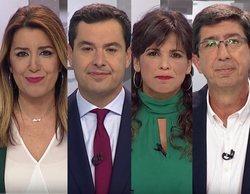 Reproches por los pactos y falta de pasión en el debate a cuatro de las elecciones andaluzas en Canal Sur