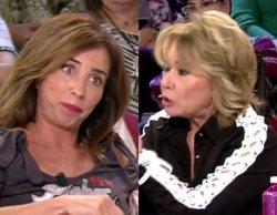 """Mila Ximénez ataca a María Patiño por rebatirla: """"La primera y la última vez, no eres el ombligo del programa"""""""