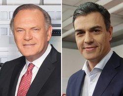Pedro Piqueras entrevista al presidente Pedro Sánchez en 'Informativos Telecinco' el martes 4 de diciembre