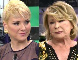 """Mila Ximénez abandona el plató de 'Sálvame' por culpa de María Jesús Ruiz: """"Te muestras como una bruja piruja"""""""