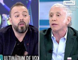 """El tenso rifirrafe entre Eduardo Inda y Antonio Maestre en 'AR': """"En la calle no me lo repites dos veces"""""""