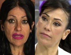 Maite Galdeano reaparece en 'Sálvame' tras varios retoques estéticos y protagoniza una pelea con Raquel Bollo