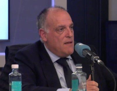 """Tebas y Juanma Castaño discuten por la censura en las entrevistas de LaLiga: """"Acojonante"""""""