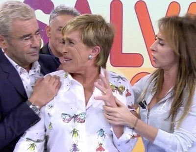 Chelo García-Cortés abandona el plató de 'Sálvame' y anuncia una demanda contra Rafa Mora