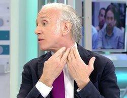 Eduardo Inda denuncia una agresión en el cuello en Telecinco y Ana Rosa Quintana pide disculpas