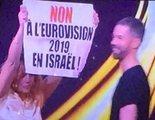 Eurovisión 2019: Un grupo de espontáneos se cuela en la preselección de Francia y se manifiesta contra Israel