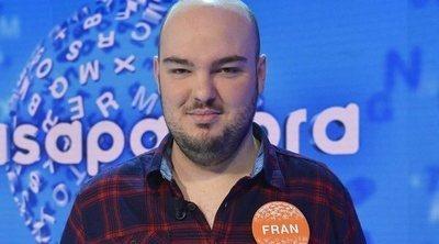'Pasapalabra' confirma que Fran González se lleva el bote tras ganar 'El Rosco' el martes 22 de enero