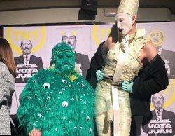 Soy Una Pringada sorprende con un look estrambótico (más que nunca) en la presentación de 'Vota Juan'