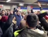 """Los taxistas protestan en Madrid al son de la versión del """"Bella ciao"""" de 'La Casa de Papel'"""