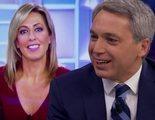 Vicente Vallés bromea en 'El hormiguero' sobre la competencia contra su mujer, presentadora de Telecinco