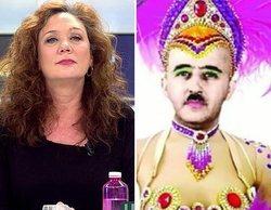 """'Ya es mediodía': Pilar Gutiérrez y Cristina Fallarás, enfrentadas por un cartel de Franco a lo """"drag queen"""""""