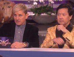 Ellen DeGeneres parodia 'The Masked Singer' con una versión de baile y Ken Jeong como jurado