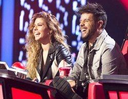 'La Voz' (20,3%) sube y mantiene su liderazgo frente a 'Got Talent España' (18,9%), que también crece