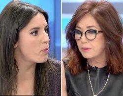 """El rifirrafe entre Irene Montero y Ana Rosa por el besamanos al Rey: """"No acudir a un acto arcaico es legítimo"""""""