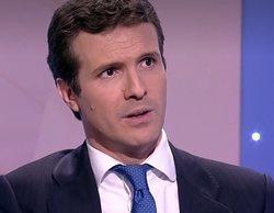 """Pablo Casado evita hablar de maltrato en su entrevista en TVE: """"Esa persona que no se está portando bien"""""""