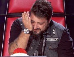 Antonio Orozco rompe a llorar en 'La voz' al rememorar la muerte de la madre de su hijo