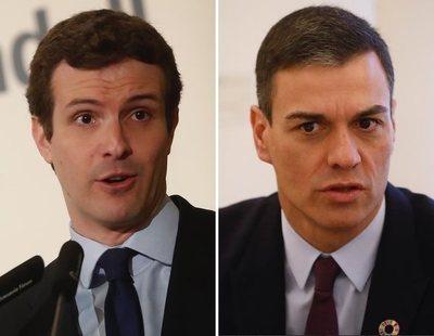El PP acepta un debate entre Casado y Sánchez propuesto por Mediaset y critica al PSOE