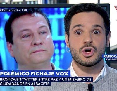 Pablo Sarrión (Ciudadanos) reprende a Fernando Paz (VOX) por sus comentarios homófobos