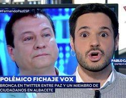 La discusión entre Fernando Paz (VOX) y Pablo Sarrión (Ciudadanos) en 'Espejo Público':