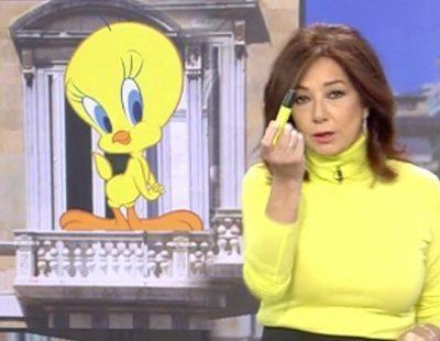 Ana Rosa sugiere a Quim Torra que sustituya los lazos amarillos por Piolín o Bob Esponja