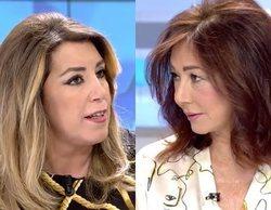 Susana Díaz defiende a Pedro Sánchez ante Eduardo Inda y Ana Rosa Quintana en 'El programa de Ana Rosa'