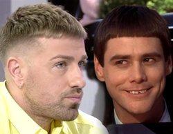 """Tremendo cachondeo en Twitter al comparar el nuevo look de Rafa Mora con Jim Carrey en """"Dos tontos muy tontos"""""""