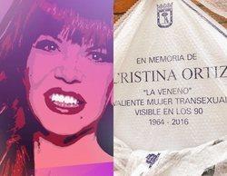 """Cristina """"La Veneno"""", homenajeada en el Parque del Oeste de Madrid con una placa en su memoria"""