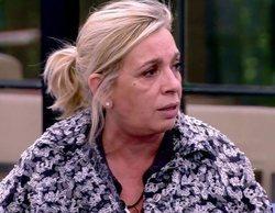 Carmen Borrego acude al hospital por una inflamación en el cuello tras el tartazo en 'Sálvame Okupa'