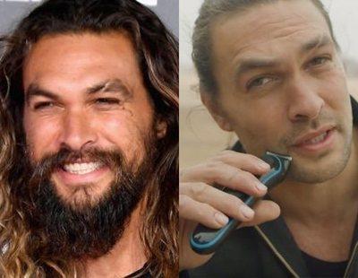 Jason Momoa y su radical cambio de look: Se afeita la barba tras siete años con ella