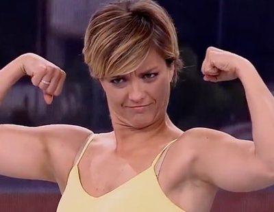 María Casado, pillada sacando bíceps por un error de realización en el 'Telediario'
