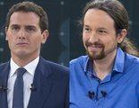 """Albert Rivera, crítico con Pedro Sánchez en el comienzo del debate de RTVE: """"Estamos aquí de milagro"""""""