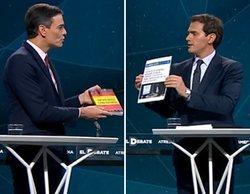 """Sánchez, Iglesias, Casado y Rivera, enfrentados por los independentistas en 'El Debate': """"Las mentiras vuelan"""""""