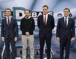 'El Debate Decisivo' arrasa en Antena 3 y laSexta (48,7%) y lleva a mínimo histórico a 'MasterChef' (9,6%)
