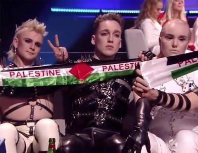 Islandia podría ser sancionada por las banderas de Palestina que mostró Hatari