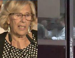 Las cámaras de Atresmedia captan un corte de mangas del PP a Carmena desde el despacho de Almeida