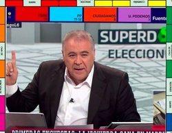 Ferreras acapara los memes del 26-M con las bromas sobre el grafismo de 'Al rojo vivo'