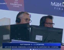 Así celebró Michael Robinson los goles y la victoria del Liverpool en la final de la Champions League