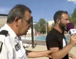 'À Punt Directe': Un guardia de seguridad impide a un reportero del programa realizar una conexión en directo