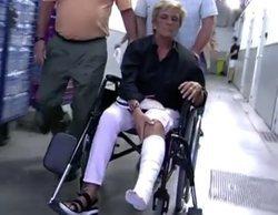 Chelo García-Cortés sufre un aparatoso accidente en 'Sálvame' y es trasladada a un hospital