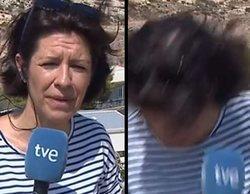 """Una reportera de TVE, atacada por una avispa en una conexión en directo: """"¡Me está picando!"""""""