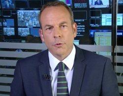 El plató de 'Informativos Telecinco', inundado por la tormenta de Madrid y reubicado en realización