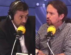 """Críticas a Javier Ruiz tras su tensa entrevista a Pablo Iglesias en La Ser: """"Se le ha caído la careta"""""""