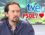 """Pablo Iglesias: """"TVE ha sido TelePP y ahora, por desgracia, es TelePSOE"""""""
