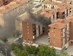 La emisión de la Vuelta a España en RTVE concluye con las imágenes de un estremecedor incendio