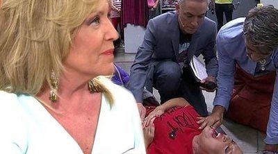 Lydia Lozano reaparece en televisión tras acabar en el hospital por su doloroso accidente en 'Sálvame'