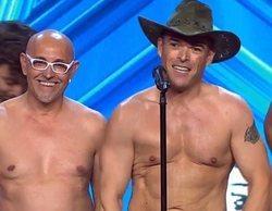 "Risto dice sí a dos stripteases por una promesa en 'Got Talent': ""Si no os tatuáis la nalga os lo quito"""